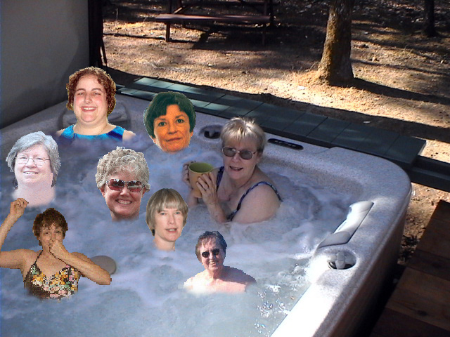 Group shot of all Garden Tub Maidens